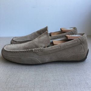 Sperry Top-Sider Men US 10 Beige Leather Loafers